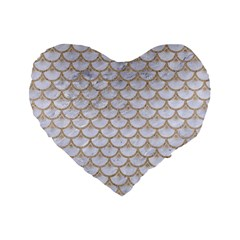 Scales3 White Marble & Sand (r) Standard 16  Premium Heart Shape Cushions by trendistuff