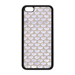 Scales3 White Marble & Sand (r) Apple Iphone 5c Seamless Case (black) by trendistuff