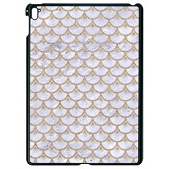 Scales3 White Marble & Sand (r) Apple Ipad Pro 9 7   Black Seamless Case by trendistuff