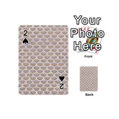 Scales3 White Marble & Sand Playing Cards 54 (mini)  by trendistuff