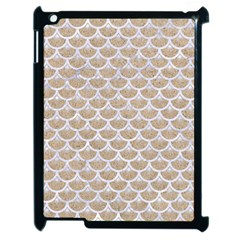 Scales3 White Marble & Sand Apple Ipad 2 Case (black) by trendistuff