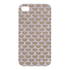 Scales3 White Marble & Sand Apple Iphone 4/4s Premium Hardshell Case by trendistuff