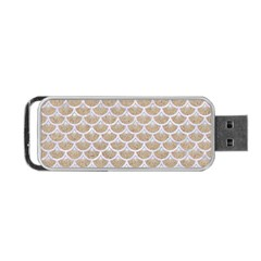 Scales3 White Marble & Sand Portable Usb Flash (two Sides) by trendistuff