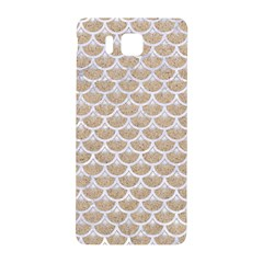 Scales3 White Marble & Sand Samsung Galaxy Alpha Hardshell Back Case by trendistuff