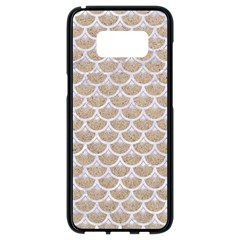 Scales3 White Marble & Sand Samsung Galaxy S8 Black Seamless Case