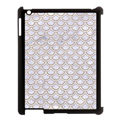Scales2 White Marble & Sand (r) Apple Ipad 3/4 Case (black) by trendistuff