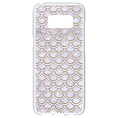 Scales2 White Marble & Sand (r) Samsung Galaxy S8 White Seamless Case by trendistuff
