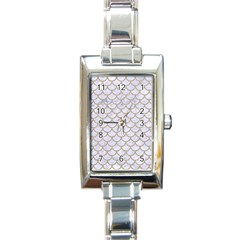Scales1 White Marble & Sand (r) Rectangle Italian Charm Watch by trendistuff