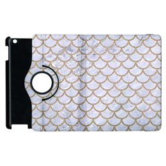 Scales1 White Marble & Sand (r) Apple Ipad 3/4 Flip 360 Case by trendistuff