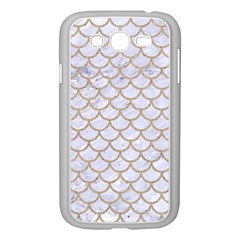Scales1 White Marble & Sand (r) Samsung Galaxy Grand Duos I9082 Case (white) by trendistuff