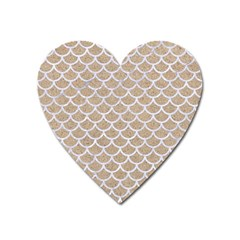 Scales1 White Marble & Sand Heart Magnet by trendistuff