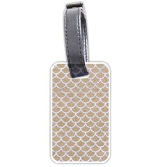 Scales1 White Marble & Sand Luggage Tags (two Sides) by trendistuff