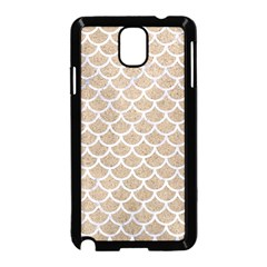 Scales1 White Marble & Sand Samsung Galaxy Note 3 Neo Hardshell Case (black) by trendistuff
