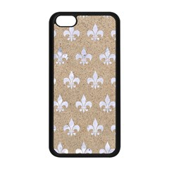Royal1 White Marble & Sand (r) Apple Iphone 5c Seamless Case (black) by trendistuff