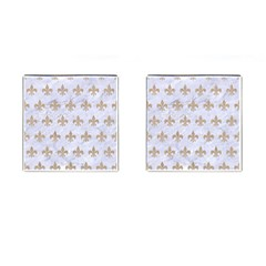 Royal1 White Marble & Sand Cufflinks (square) by trendistuff