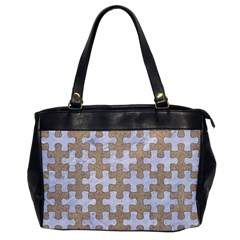 Puzzle1 White Marble & Sand Office Handbags by trendistuff