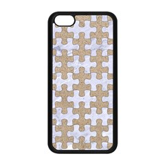 Puzzle1 White Marble & Sand Apple Iphone 5c Seamless Case (black) by trendistuff