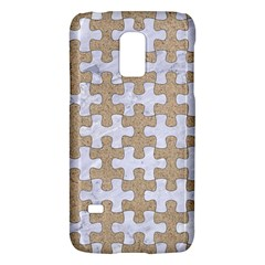 Puzzle1 White Marble & Sand Galaxy S5 Mini by trendistuff
