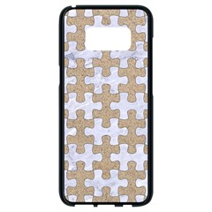 Puzzle1 White Marble & Sand Samsung Galaxy S8 Black Seamless Case by trendistuff