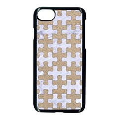 Puzzle1 White Marble & Sand Apple Iphone 8 Seamless Case (black) by trendistuff