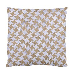 Houndstooth2 White Marble & Sand Standard Cushion Case (two Sides) by trendistuff