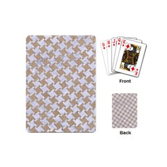 Houndstooth2 White Marble & Sand Playing Cards (mini)  by trendistuff