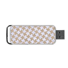 Houndstooth2 White Marble & Sand Portable Usb Flash (one Side) by trendistuff