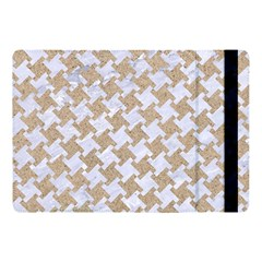 Houndstooth2 White Marble & Sand Apple Ipad Pro 10 5   Flip Case by trendistuff
