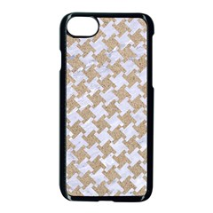 Houndstooth2 White Marble & Sand Apple Iphone 8 Seamless Case (black) by trendistuff