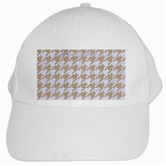 Houndstooth1 White Marble & Sand White Cap by trendistuff