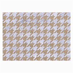 Houndstooth1 White Marble & Sand Large Glasses Cloth by trendistuff