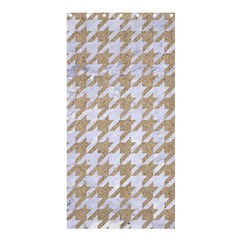 Houndstooth1 White Marble & Sand Shower Curtain 36  X 72  (stall)  by trendistuff