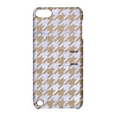 Houndstooth1 White Marble & Sand Apple Ipod Touch 5 Hardshell Case With Stand by trendistuff