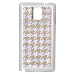 Houndstooth1 White Marble & Sand Samsung Galaxy Note 4 Case (white) by trendistuff