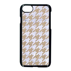 Houndstooth1 White Marble & Sand Apple Iphone 7 Seamless Case (black) by trendistuff