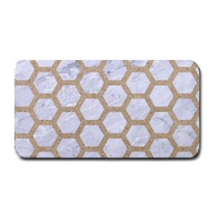 Hexagon2 White Marble & Sand (r) Medium Bar Mats