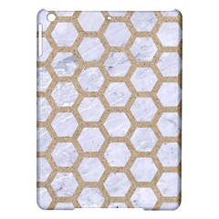 Hexagon2 White Marble & Sand (r) Ipad Air Hardshell Cases by trendistuff