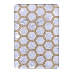 Hexagon2 White Marble & Sand (r) Samsung Galaxy Tab Pro 12 2 Hardshell Case by trendistuff