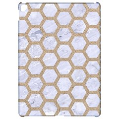 Hexagon2 White Marble & Sand (r) Apple Ipad Pro 12 9   Hardshell Case by trendistuff