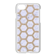 Hexagon2 White Marble & Sand (r) Apple Iphone 8 Seamless Case (white) by trendistuff