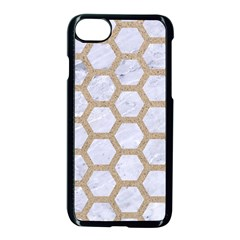 Hexagon2 White Marble & Sand (r) Apple Iphone 8 Seamless Case (black) by trendistuff
