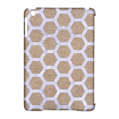 Hexagon2 White Marble & Sand Apple Ipad Mini Hardshell Case (compatible With Smart Cover) by trendistuff