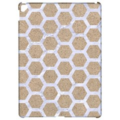 Hexagon2 White Marble & Sand Apple Ipad Pro 12 9   Hardshell Case by trendistuff