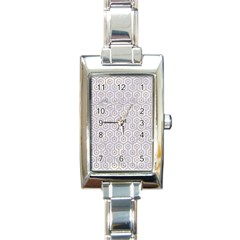 Hexagon1 White Marble & Sand (r) Rectangle Italian Charm Watch by trendistuff