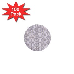 Hexagon1 White Marble & Sand (r) 1  Mini Buttons (100 Pack)  by trendistuff