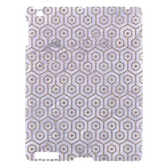 Hexagon1 White Marble & Sand (r) Apple Ipad 3/4 Hardshell Case