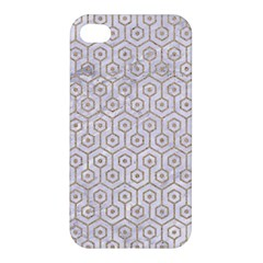 Hexagon1 White Marble & Sand (r) Apple Iphone 4/4s Premium Hardshell Case by trendistuff