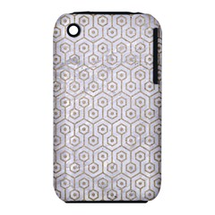 Hexagon1 White Marble & Sand (r) Iphone 3s/3gs by trendistuff