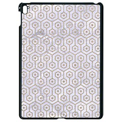 Hexagon1 White Marble & Sand (r) Apple Ipad Pro 9 7   Black Seamless Case by trendistuff