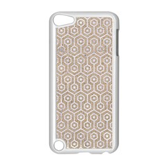 Hexagon1 White Marble & Sand Apple Ipod Touch 5 Case (white)